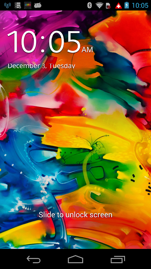 Note3 lock screen - screenshot