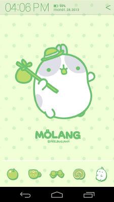 Molang Clover Green Atom theme - screenshot