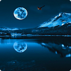 Blue Moon Live Wallpaper HD icon