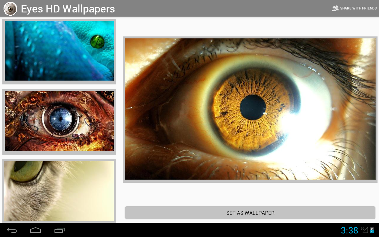 Eyes HD wallpapers - screenshot