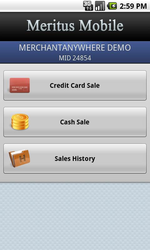 Meritus Mobile- screenshot