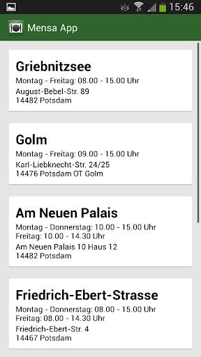 Mensa App Potsdam