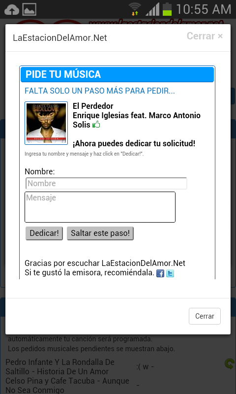 LaEstacionDelAmor.Net Radio- screenshot