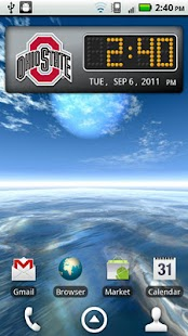 Ohio State Buckeyes Clock - screenshot thumbnail