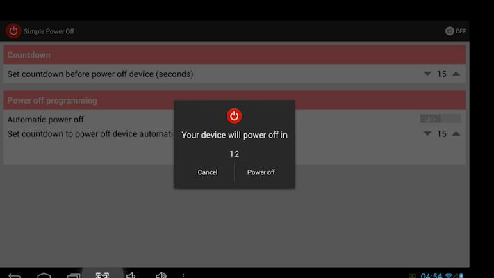 Simple Power Off - screenshot