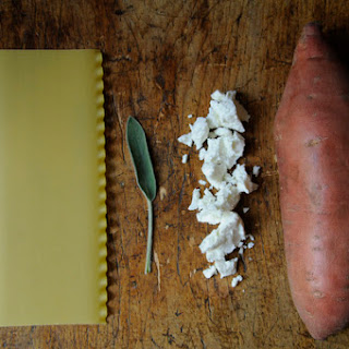 Sweet Potato, Goat Cheese and Sage Pasta Pileup