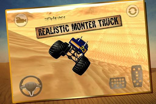 彈跳怪物卡車沙漠