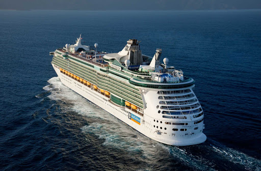 Freedom-of-the-Seas-aerial-3 - Royal Caribbean's Freedom of the Seas sails to her next destination in the Caribbean.
