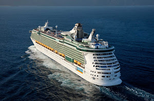 Royal Caribbean's Freedom of the Seas sails to her next destination in the Caribbean.