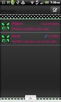 Screenshot of GO SMS THEME/GreenPolkaDot