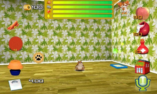 Pet talking friend hamster - screenshot