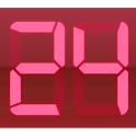 Digital Clock Red icon