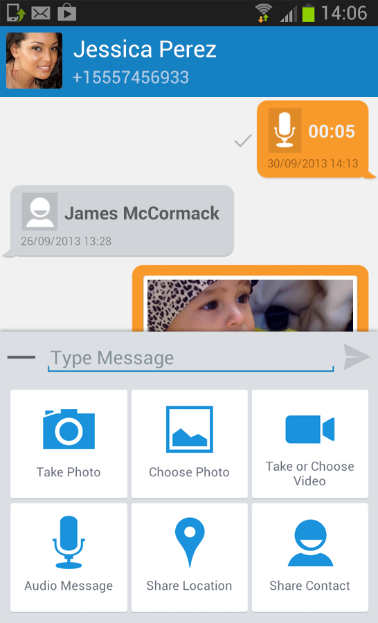Vonage Mobile® Call Video Text - screenshot