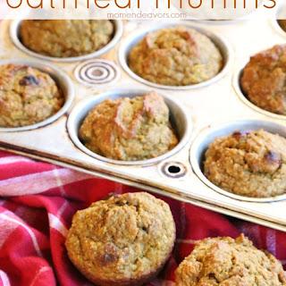 Pumpkin Banana Oatmeal Muffins