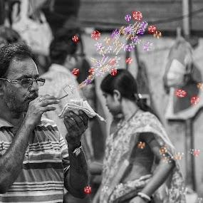 The Bubble Blower by Pritam Saha - People Street & Candids ( monochrome, street, people, photo, pheonix,  )