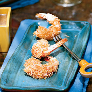 Breaded Shrimp with Honey-Mustard Sauce.