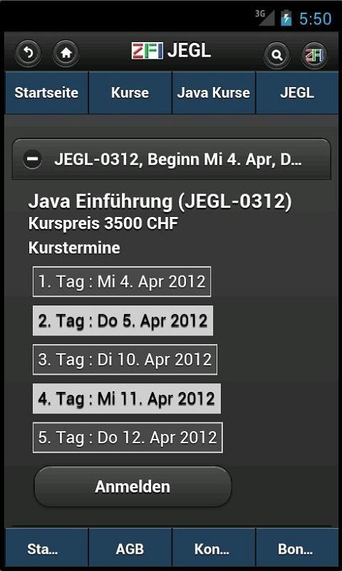 Zentrum für Informatik ZFI- screenshot
