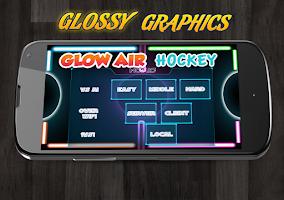 Screenshot of Glow Air Hockey Multiplayer