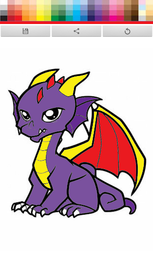 【免費娛樂App】Dragons Cartoon Coloring-APP點子