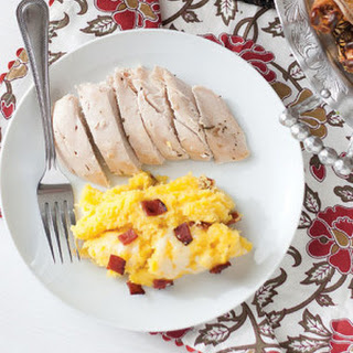Lemon Rosemary Roasted Chicken with Savory Acorn Squash.
