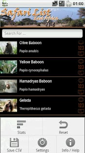 Safari List - East Africa- screenshot thumbnail