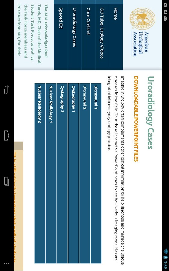 AUA Medical Student Curriculum - screenshot