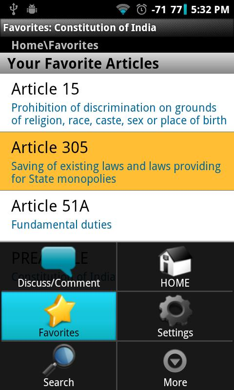 Constitution of India - screenshot