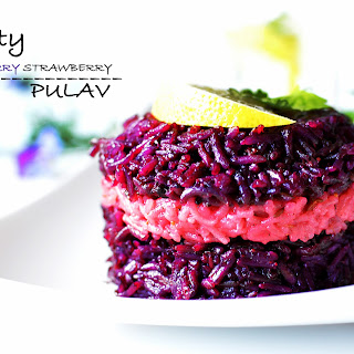 Fruity Blueberry Strawberry Pulav