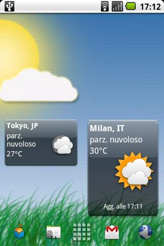 Meteo Widget- screenshot