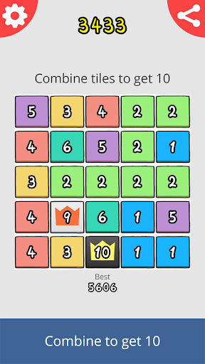 Just Get 10 - Hard Puzzle Game