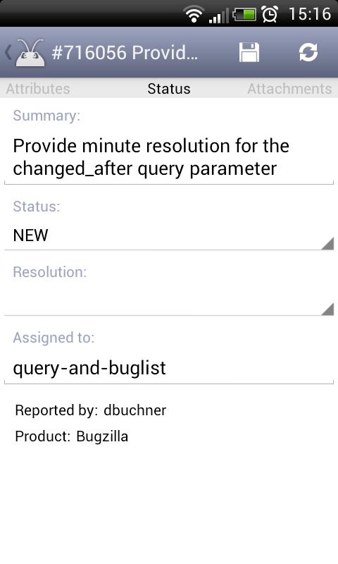 Bugzi - Bugzilla client - screenshot