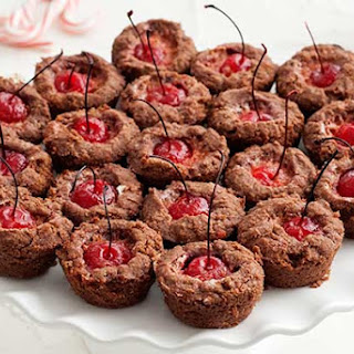 Gluten Free Chocolate Cherry Peppermint Tassies