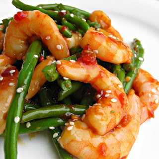 Shrimp with Spicy Garlic Sauce.