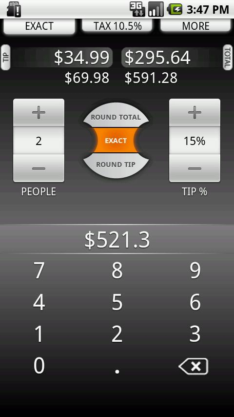 Tip Calculator by TradeFields - screenshot