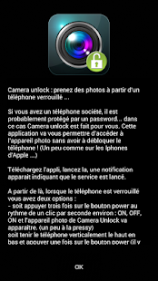 Camera Unlock power btn (free) Capture d'écran