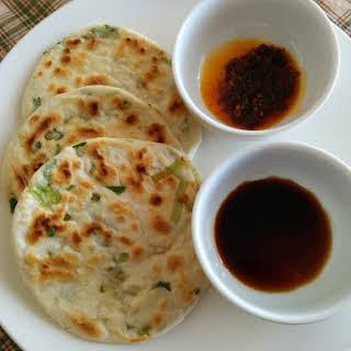 Chinese Green Onion Pancakes (vegan).