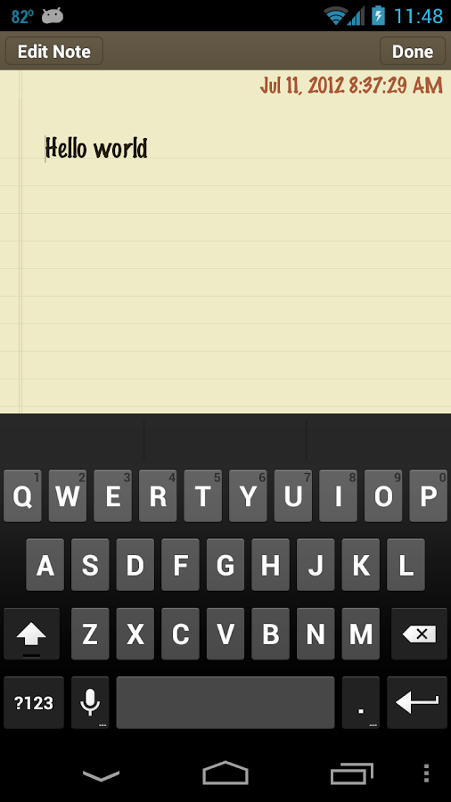 Classic Notes Lite - Notepad - screenshot