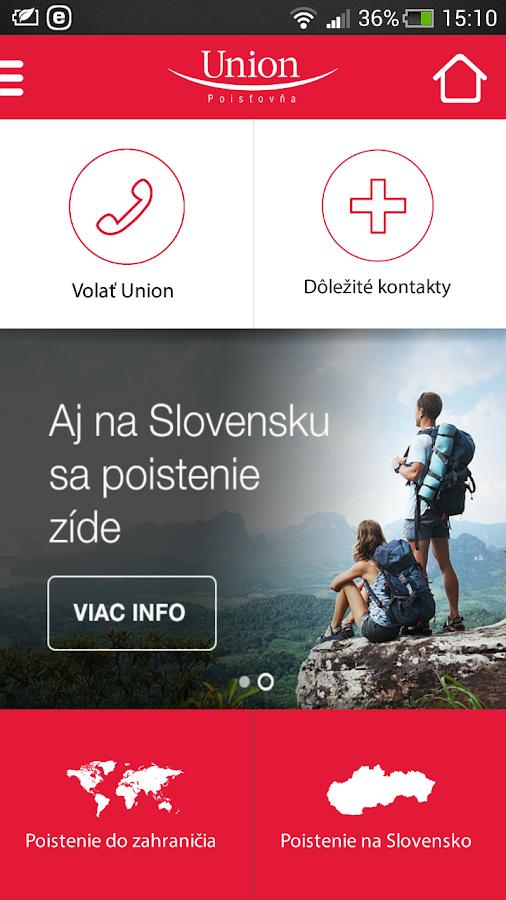Union mobilné SMS poistenie - screenshot