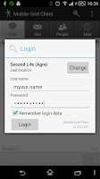 Screenshot of Mobile Grid Client