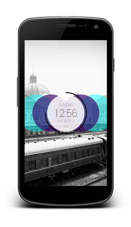 Circles Clock - UCCW Skin- screenshot