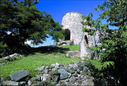 Ruins of the Annaberg Sugar Plantation on St. John, US Virgin Islands.
