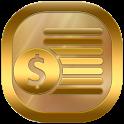 Neon Gold Theme GO Launcher icon