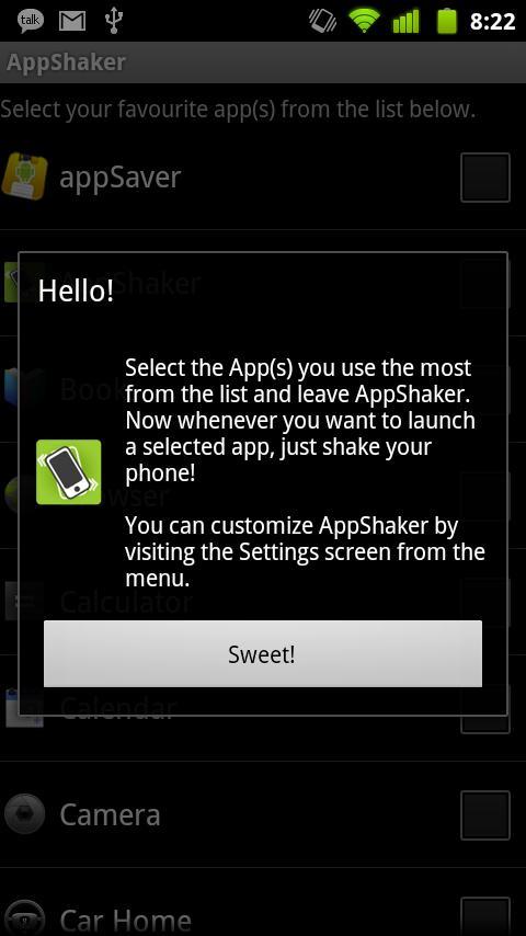 AppShaker- screenshot