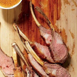 Rack of Lamb with Mustard Sauce.
