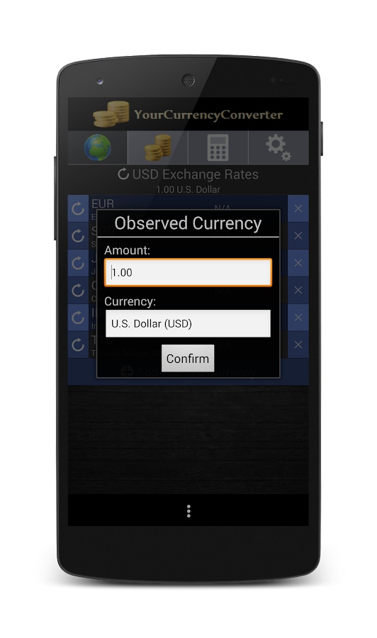 Your Currency Converter- screenshot
