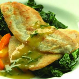 Sauteed Flounder with Orange-Shallot Sauce.