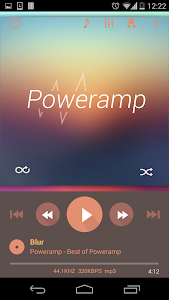 Poweramp skin 2in1 Flat Autumn v1.0.1