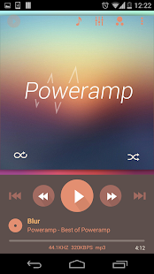Poweramp skin 2in1 Flat Autumn- screenshot thumbnail
