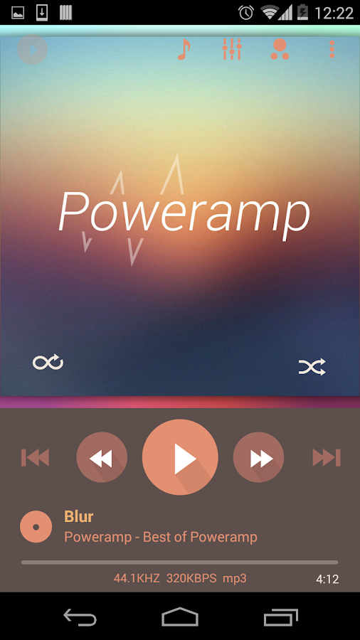 Skin for Poweramp Flat Autumn- screenshot