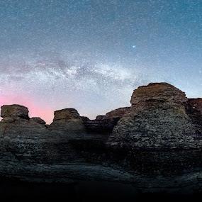 Rauks at Byrum by Jörgen Tannerstedt - Landscapes Starscapes ( milkyway, sweden, kalmar, aurora, sea stacks, borgholm, astroscape, astronomy, nightscape, stars, rauks, night, milky, galaxy, öland )